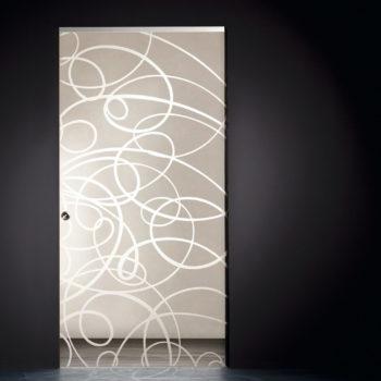 стеклянные двери на заказ с рисунком