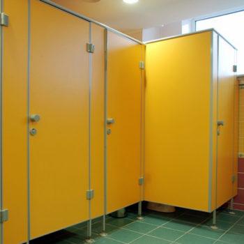 сантехнические кабины желтые