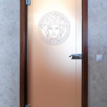 стеклянные матовые двери для душевой