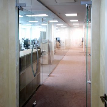 входные стеклянные двери для офиса