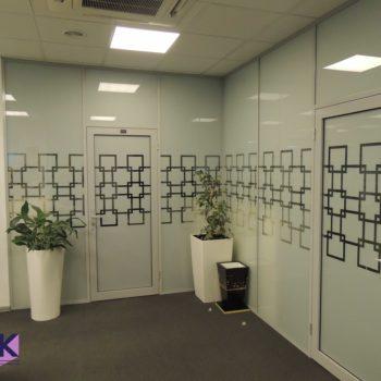 алюминиевые офисные перегородки с рисунком
