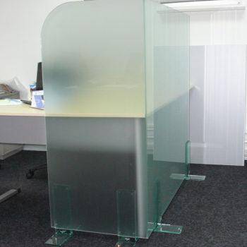 Стеклянные мобильные офисные перегородки 2