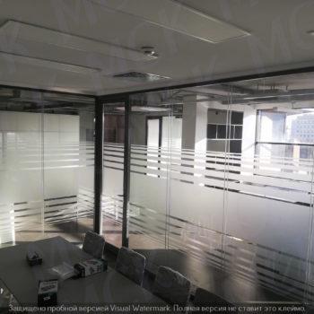 стеклянные офисные перегородки с рисунком