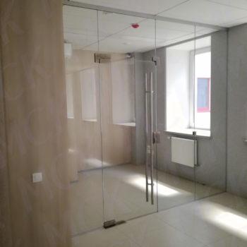 стеклянные офисные перегородки (прозрачное стекло)