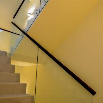 стеклянные ограждения для лестницы 6