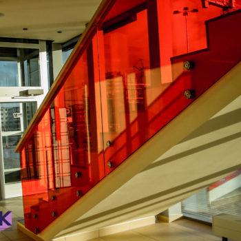 стеклянные ограждения для лестницы 5