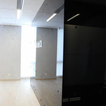 Дубляжи стен и потолков гнутым (закаленным) стеклом